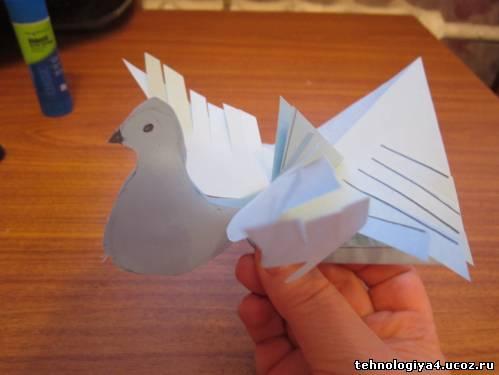Птица счастья из бумаги 2 класс технология видео